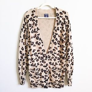 VS PINK Long Leopard Print Cardigan